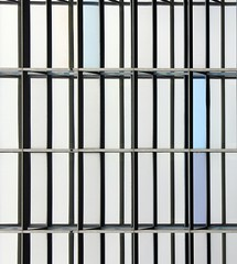 Iron bars (Andrea Kennard) Tags: new city blue windows light sky urban white house abstract color reflection building tower industry window water glass up silhouette architecture modern illustration night facade skyscraper real concrete corporate design office big high construction shiny downtown technology exterior estate apartment contemporary district background perspective business growth tall shape futuristic finance