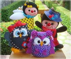 Quarteto de Fofuras (Sil Artesanato) Tags: handmade artesanato felt abelha owl coruja ladybug feltro joaninha joana abelhinha fieltro corujinha