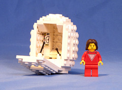 Mork2 (Shmails) Tags: robin williams lego egg sphere spaceship custom lowell mork minifigure ork