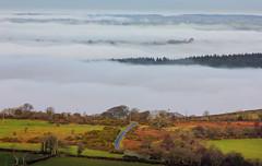Road to nowhere (snowyturner) Tags: road morning winter cloud mist rustic atmosphere devon brent tor distance dartmoor ridges valleys brentor