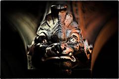 ... 220V1881 (*melkor*) Tags: light detail art dark geotagged shadows dof darkness head lion experiment minimal castiron lamplight lampione smörgåsbord imola sancassiano piazzaduomo melkor trashbit imolabit backtotrashbitproject acastironfiercelionshead