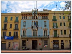 Antic ajuntament de Grcia, Barcelona (Jess Cano Snchez) Tags: barcelona espaa canon spain modernism catalonia townhall catalunya modernismo catalua gracia modernisme barcelones ayuntamiento ajuntament espanya powershotg3 elsenyordelsbertins pelscaminsdelspaisoscatalans ctbr