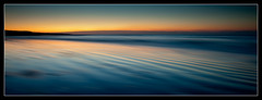 Afterglow (izzy's-photos) Tags: blue sunset sea orange beach wales sand ripples afterglow llanrhystud mygearandme mygearandmepremium