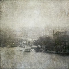 A Foggy Day in Stockholm (Milla's Place) Tags: old mist texture fog vintage stockholm skeppsholmen textured distressedjewell magicunicornverybest magicunicornmasterpiece