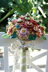 Wedding bouquet (a little bit of just because) Tags: wedding flower beads handmade lace buttons felt ribbon handsewn bouquet sequins