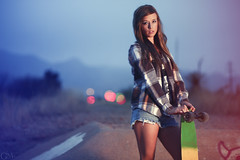 Tera [Explored] (Garrett Meyers) Tags: california colors girl canon long photographer bokeh board garrett flannel redding meyers
