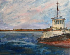 Old Tugboat - Woods Hole (Pilgrim on this road - Bill Revill) Tags: ocean sea capecod tugboat woodshole billrevill