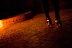 Night in Marrakech (Philippe Moreau Chevrolet) Tags: girls light red woman feet girl yellow night gold golden women shoes shine legs stones marrakech shining
