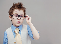~3/52~ It's not easy.... {explore} (DocUNC) Tags: boy portrait cute canon glasses kid cool child tie negativespace 5d vest ptm hss 352 flickrelite docunc
