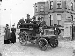 Motor Car at Larne (National Library of Ireland on The Commons) Tags: ireland car automobile northernireland daimler ulster antrim glassnegative 1890s larne motorcar hotelier wagonette robertfrench williamlawrence nationallibraryofireland chainememorial lawrencecollection historypin chainememorialroad henrymcneill daimlerwagonette
