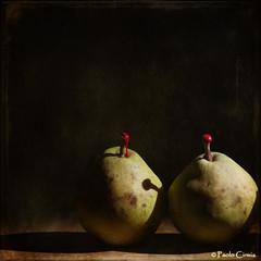 PERE E CERALACCA... (Paolo Cirmia) Tags: stilllife fruits squares textures frutta pere naturamorta