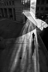 L'entrée dans la ville (Bernard Chevalier) Tags: paris geometric silhouette architecture femme ombre espace ville façade ladéfense nostalgie désert urbain décor urbanisme dehors graphisme