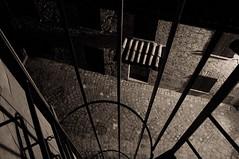 (Flavio Piffer) Tags: shadow blackandwhite bw white black brick muro lines wall stair bricks curves bn e scala curve bianco nero biancoenero coppi ruggine tegole linee mattoni