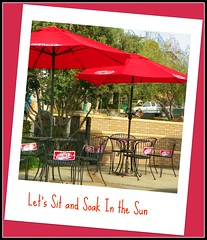 Let's Sit and Soak In the Sun! (nanaofhuck) Tags: ca chairs sandiego tables littleitaly umbrellas nanaofhuck