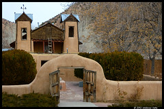 El Santuario de Chimayo (Waldemar*) Tags: newmexico church wooden gates faith religion towers entrance crosses historic spanish adobe sacred mission archway healing pilgrimage sanctuary entry elsantuariodechimayo