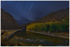 A lonely evening at Harsil riverside (santanu.dasgupta) Tags: moon india mountain canon landscape eos star long exposure trails trail moonlit 5d lit himalaya ef himalayas markii 1740f4l harsil uttarakhand 5dm2