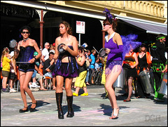 Freo Trio (suavehouse113) Tags: street music festival drums samba purple boots percussion band australia parade streetparade drumming procession fremantle freo westernaustralia philscamera 2011 fremantlefestival myfavoritecolor southterrace cappuccinostrip wasamba fremantlefestivalstreetparade