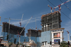 Work In Progress (unluckypixie) Tags: vegas construction casino cranes