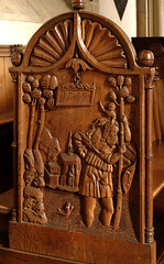Mnster, Westfalen, Paulusdom, stalls, saint Christopher (groenling) Tags: wood church saint germany de deutschland cathedral dom jesus christopher kirche carving nrw wang mermaid holz stalls mnster woodcarving westfalen heilige nordrhein chorgesthl 1539 paulusdom seejungfer benchend