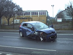 Ford Fiesta (APB Photography) Tags: road crash accident smashed damaged wrecked ravenswood rta totalled fordfiesta writtenoff nactonroad