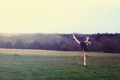 La Danseuse, Part Two (Spreading Wings Photography) Tags: ballet field photoshop bench shoes courtney pointe tutu actiosn sarahannloreth