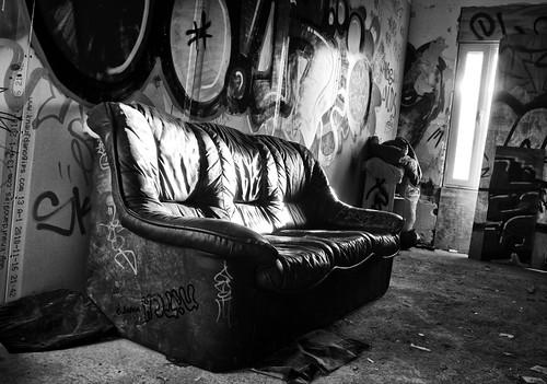 Couch lighten B&W