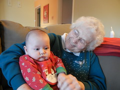 leo with Nana