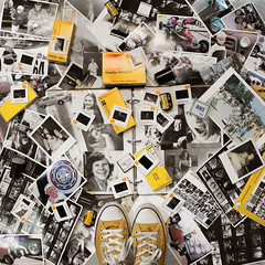 Memory (YetAnotherLisa) Tags: selfportrait film photography photos kodak snapshot craft converse memory passion slides negatives odc teleidoscope