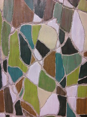 In Progress: Panel 3 of 10 (base colors) (jason a. cina) Tags: art wood panel paint mixed media abstract color green pattern shapes polygons carved plywood jason cina nyc new york modern contemporary nature circles dots texture lines geometric artist recent carving wavy cell slab topaz topazarts queens gallery exhibition polygon line jasoncina