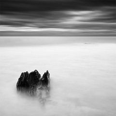 m (DavidFrutos) Tags: longexposure sea bw costa seascape beach water monochrome rock clouds sunrise square landscape monocromo coast mar agua rocks playa paisaje bn murcia amanecer filter le le