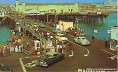 Santa Monica Pier  postcard (Dying In Downey) Tags: santa vintage michael pier postcard scan monica poulin dyingindowneycom