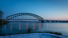 Blue Hour Bridge (Edwin van Nuil Photography) Tags: longexposure bridge winter night clear bluehour ijssel zwolle nd64 geocity exif:isospeed=100 exif:focallength=18mm sony18200mmf3563zoomlens exif:make=sony camera:make=sony geostate geocountrys exif:aperture=71 nex7 sel18200 sonynex7 camera:model=nex7 exif:model=nex7 exif:lens=e18200mmf3563oss pwwinter