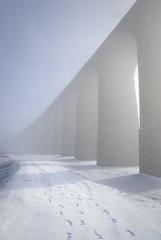 Ribblehead Viaduct Like You've Never Seen It (Neil_Forshaw_Photography) Tags: bridge winter sun mist snow cold ice sunshine misty fog frozen snowy foggy freezing viaduct valley highkey faint weaksunshine