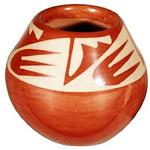 """<b>Jar</b><br/> Maria/Popovi Martinez/Da (1923-1971) """"Jar"""" Redware, 1965 LFAC #1995:08:04<a href=""""http://farm8.static.flickr.com/7166/6852263275_646fd9c8c3_o.jpg"""" title=""""High res"""">∝</a>"""