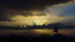 Sun's bed (Mathieu IPS) Tags: blue sunset shadow sky sun france yellow backlight clouds jaune landscape soleil ombre bleu ciel nuages paysage contrejour couchédesoleil nikond7000 tamron70300mmvc mkfautoyere