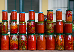 Piri Piri Chilly Sold At Mercado Central, Maputo, Mozambique (Eric Lafforgue Photography) Tags: africa travel people food color horizontal shopping tomato outdoors photography bottle day order market spice indianocean working nobody nopeople business heat arrangement foodanddrink variation piripiri mozambique maputo moambique marketstall ingredient inarow eastafrica mercadocentral capitalcities colorimage smallbusiness largegroupofobjects hotchilli maputocity colourimage portuguesecolony lourenomarques incidentalpeople moz017