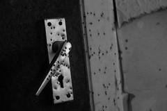 Bullet Holes (dale.kirkwood) Tags: door canon northernireland doorhandle urbanexploring urbex
