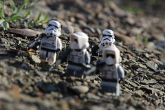 """""""I never get to be up front, leading the way... Wait. that might be a good thing..."""" (kevinmboots77) Tags: starwars lego stormtroopers scouttroopers legography"""