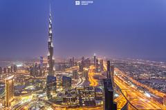 UAE - Dubai - Burj Khalifa Skyline View (Sarah Al-Sayegh Photography   www.salsayegh.com) Tags: canon dubai uae bluehour unitedarabemirates leefilters canon24mmtsef35 canoneos5dmarkiii burjkhalifa wwwsalsayeghcom infosalsayeghcom