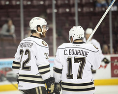 Erik Burgdoerfer and Chris Bourque (hartmantori) Tags: hockey bears den caps hershey ahl defend hersheybears washingtoncapitals hersheybearshockey