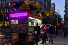 Food truc in NCY's sunset (thomasiochum) Tags: new york nyc sunset food usa building state manhattan empire truc