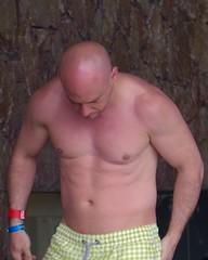 IMG_1585 (danimaniacs) Tags: shirtless man hot sexy guy mexico bald hunk puertovallarta trunks swimsuit stud mansolo