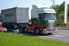 Eddie Stobart Scania PO15UZA Tracy Leanne - Widnes (dwb transport photos) Tags: truck scania widnes hgv eddiestobart h2386 po15uza tracyleanne