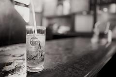Mojito (Simone Della Fornace) Tags: blackandwhite white black glass monochrome bar drink bokeh sony havana cuba cocktail mojito rum matte a7rii