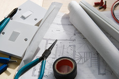 Electrical planning (E.W.Griffiths) Tags: lighting wire construction cable diagram plans electrical switches contractor engineer services electrician electrics connections fitter trunking