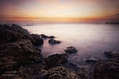 Fintas Seaside (mynameismyk) Tags: longexposure seascape sunrise canon seaside kuwait fintas