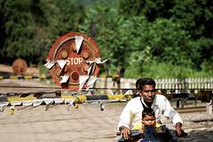 Rayagada, Railway-crossing (madamasu) Tags: india man children nikon motorbike railwaycrossing rayagada d700 odisha leitax leicaapomakroelmarit100mm