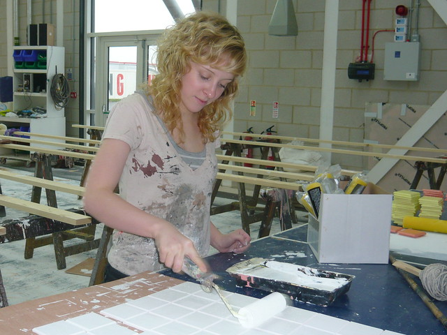 Louise Fairnie on a work experience placement with the Scenic Arts Department, Royal Opera House, Thurrock © ROH 2011