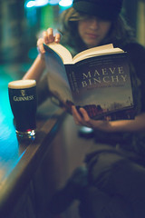 Sator Arepo & The Dubliner Stout (Sator Arepo) Tags: leica ireland portrait espaa dublin irish beer bar 50mm reading book spain pub bokeh retrato culture rangefinder f1 guinness cap cover novel noctilux pint stout salou hapennybridge m9 dubliner maevebinchy binchy leicam9 mindingfrankie bajoelcielodedublin retofez120619