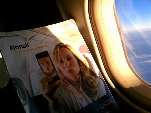 This ad for Lufthansa's wi-fi service is by Global X, on Flickr